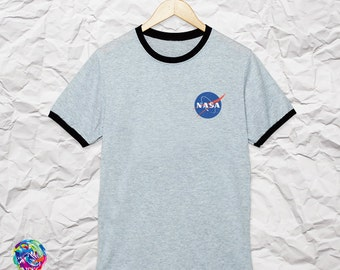 Nasa Shirt Pocket Nasa T-Shirt Ringer T Shirts