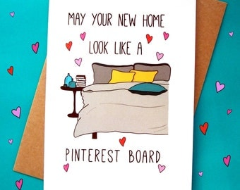 New Home Card, Pinterest Home Card, Congratulations on your New Home Card, Funny Moving card
