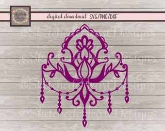 Chandelier SVG, png, dxf, Digital Download file, Fancy Elegant graphic, Cutting file, Clipart, Hand drawn, Vintage style,  Victorian