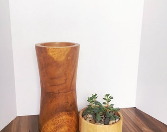 Mid Century Modern Wood Vase