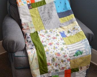 Onesie Quilt, Keepsake Blanket, Memory Quilt, Memory Quilt, Heritage Blanket