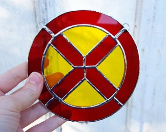 X-Men Stained Glass Suncatcher Wolverine Marvel Comics Geek Nerd Gift