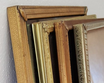 """Gold Metal 8"""" x 10"""" Picture Frame Gold Picture Frames Price is per frame~convo me"""