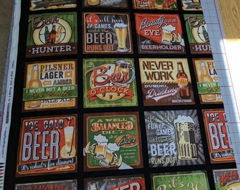 Cheers-Signs-Cotton Fabric from Robert Kaufman