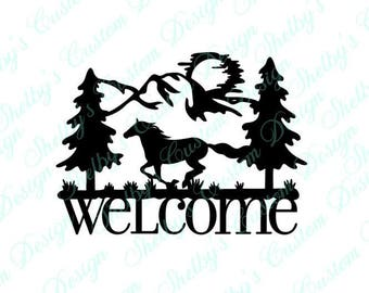 Horse Decal, Welcome Wall Decal, Vinyl Wall Art, Wall Art Decals, Welcome Decal, Decorative Wall Decals, Cool Wall Decals, Welcome Stickers