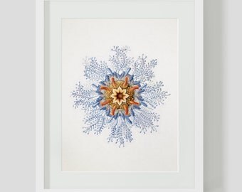 Vintage Nautical Ocean Flower Downloadable Art