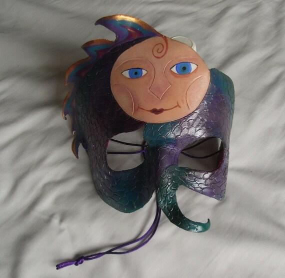 Ruthenia Handmade Mask -- Masquerade costume leather mask, Mardi gras, Carnival, Cosplay, Halloween