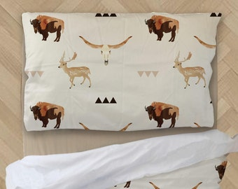 Little Boy Comforter - Deer Comforter - Longhorn Bedding - Baby Shower Gift - Boy Bedding - Crib Bedding