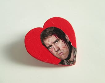 Neville Longbottom (Matthew Lewis) Heart Pin // Harry Potter