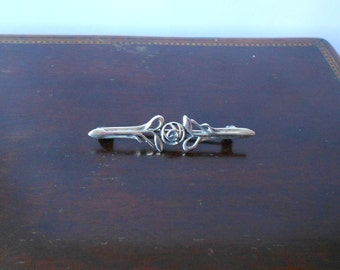 Kit Heath 925 Silver Brooch, Mackintosh Rose Design