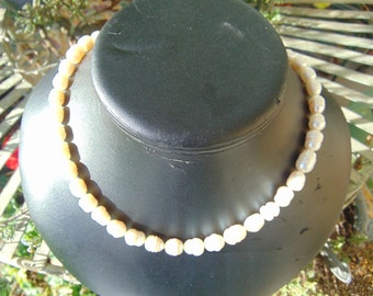 necklace, 9 mm. freshwater pearls, 26 in. long