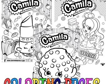 Personalized Shopkins Coloring Pages