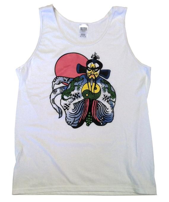 Big trouble in little china tank top as jack burton wears 80s for Big trouble in little china jack burton shirt