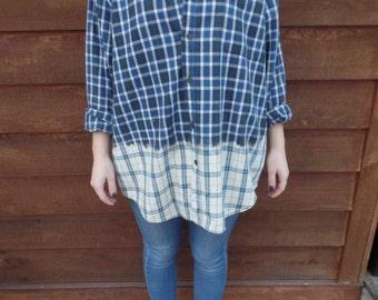 Blue to Cream Ombre Shirt