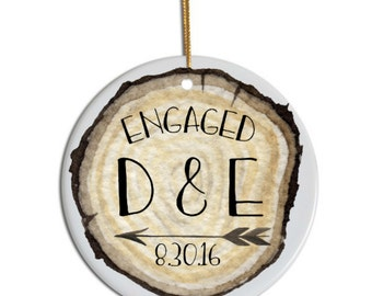 Just Engaged, Engaged Ornament, Custom Ornament, Christmas Ornament, Gift for Bride , Christmas Gift for Her, Just Engaged Ornament