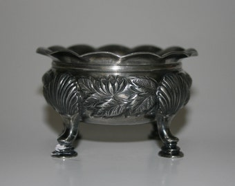 Vintage Silver Plated Footed Bowl - Silver Bowl - Silver Dish - Nut Dish