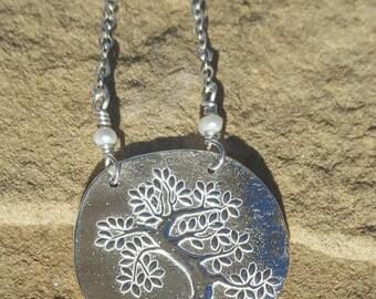 Precious Metal Clay Tree Necklace