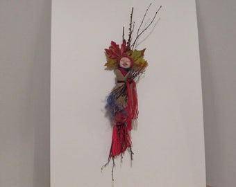 OOAK Art Doll, Handmade Art Doll, Spirit Doll, Kitchen Witch, Fantasy Doll, Fiber Art Doll, Mixed-Media Doll..  dh