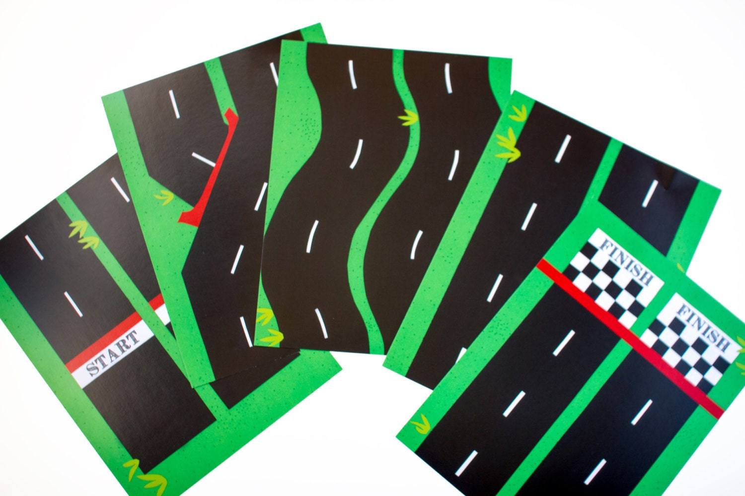It is a picture of Unforgettable Race Track Printable