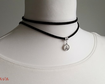 Choker necklace collar individual letter personalized initials request letter