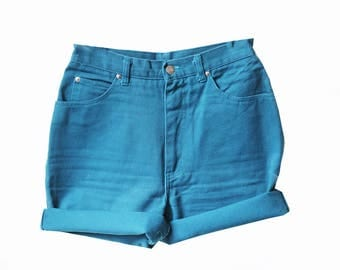 SALE - Electric Blue High Waisted Shorts
