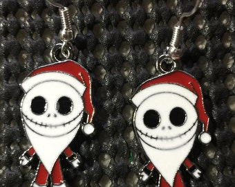 Jack Skeleton Santa Earrings