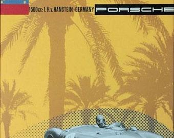 Vintage Porsche Caracas Venezuela Grand Prix Motor Racing Poster  A3 Print