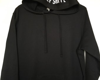 Mens The Bully Shoppe Geo hoodie Black