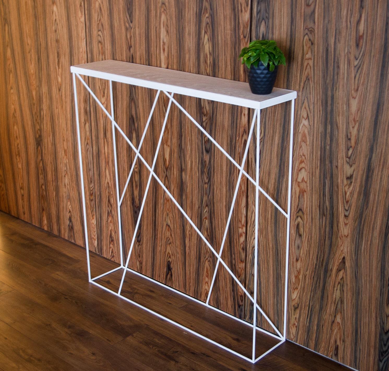 Consolle in bianco stretta consolle tavolo di di RefillDecor