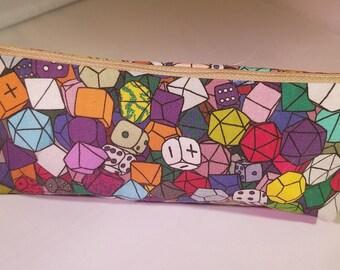 Polyhedral Dice Pencil Case