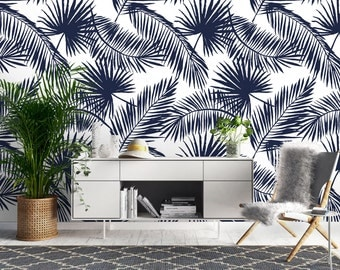 Balmy Nights Wallpaper, Printed, Wall Decor, Removable Wallpaper, Watercolour