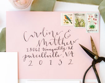 Hand Written | Calligraphy | Envelope Addressing | Hand Lettered Envelopes | Custom Calligraphy | Envelopes | Wedding Envelopes | Wedding