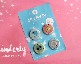 Cinderly Button Pack