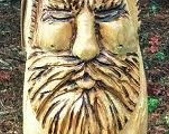 Wood Spirit Wizard Gnome Chainsaw Carving
