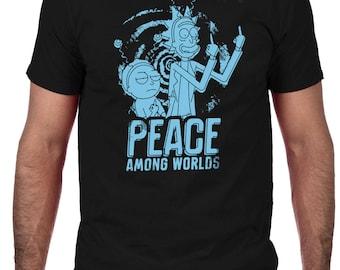 Peace Among Worlds T-shirt, Rick & Morty T-Shirt, Men's Comedy T-Shirt