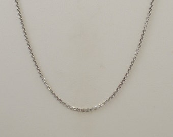 "14k White Gold Chain Necklace 18"" Length"