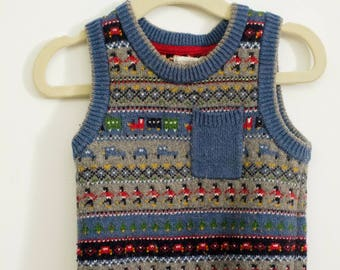 London knitted vest boys