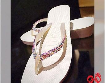 Havaianas Flip Flops, Embellished Havaianas, Wedding Havaianas,  crystals bling Havaianas, Bridal havaianas,  bling flip flop