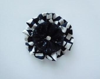 Black and white accessory pin