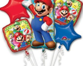 Super Mario Mylar Balloons | Mario Birthday Party Decor | Birthday Balloons