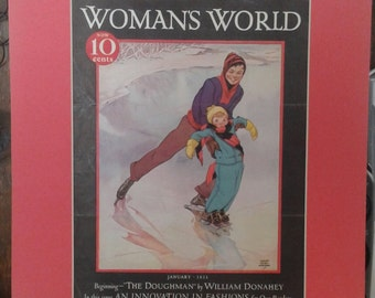 Matted Vintage Woman's World 1933 Cover Free Shipping