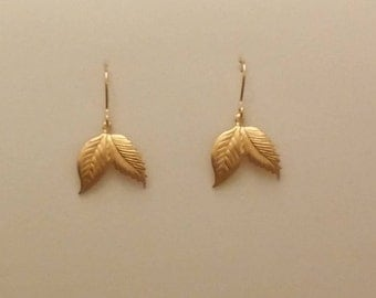 Silver earrings with gold-plated and brass sheets