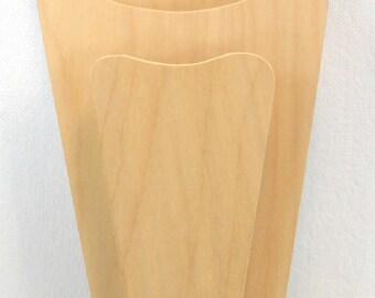 Unfinished Wood Knife Holder for Crafting