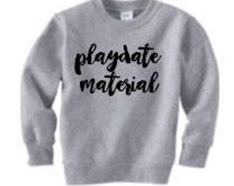 playdate material | toddler sweatshirt