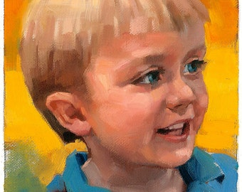Custom 5 x 7 in Portraits - oil on canvas