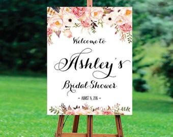 Bridal Shower sign, Bridal Shower Welcome Sign, Bridal Shower decoration, welcome wedding sign, Bridal shower invitation - US_BS0105b