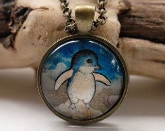 Little Penguin Art Pendant