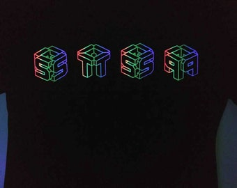 black light STS9 royGbiv cubes t-shirt