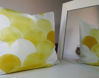 decorative pillow, pillow cover, yellow, yellow