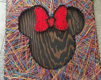 Minnie & Mickey string art